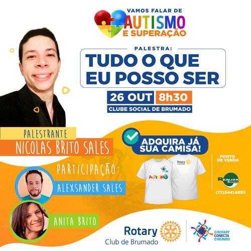 Rotary Club de Brumado: Fotógrafo premiado, autista ministrará palestra em Brumado