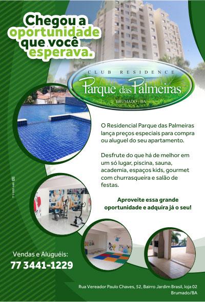 Brumado: Residencial Parque das Palmeiras lança preços especiais para compra ou aluguel de apartamentos