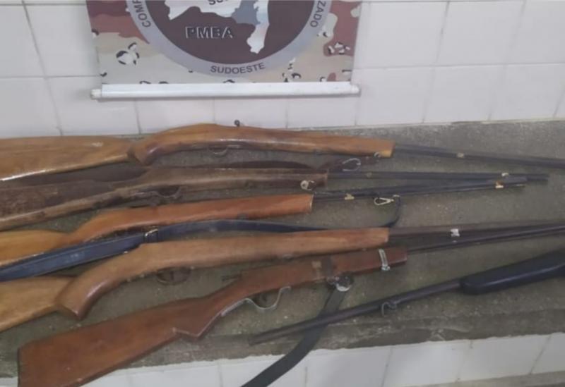 CipeSudoeste apreende armas de caçadores na zona rural de Aracatu