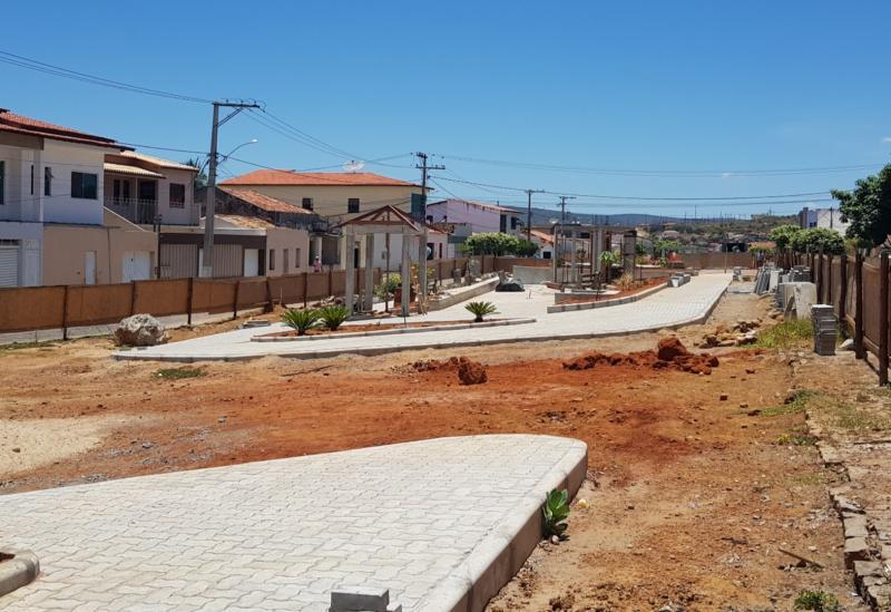 Brumado: com previsão para 2018, obras da Praça do Rotary ainda não foram concluídas