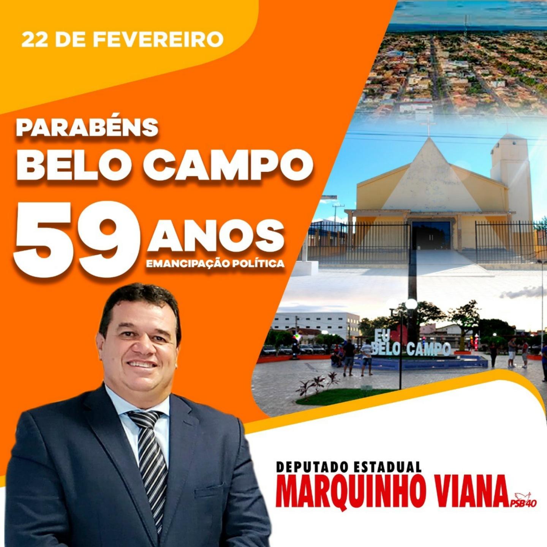 Deputado Marquinho parabeniza Belo Campo pelos 59 anos de emancipação política