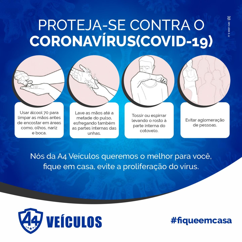 A4 Veículos: proteja-se contra o Coronavírus