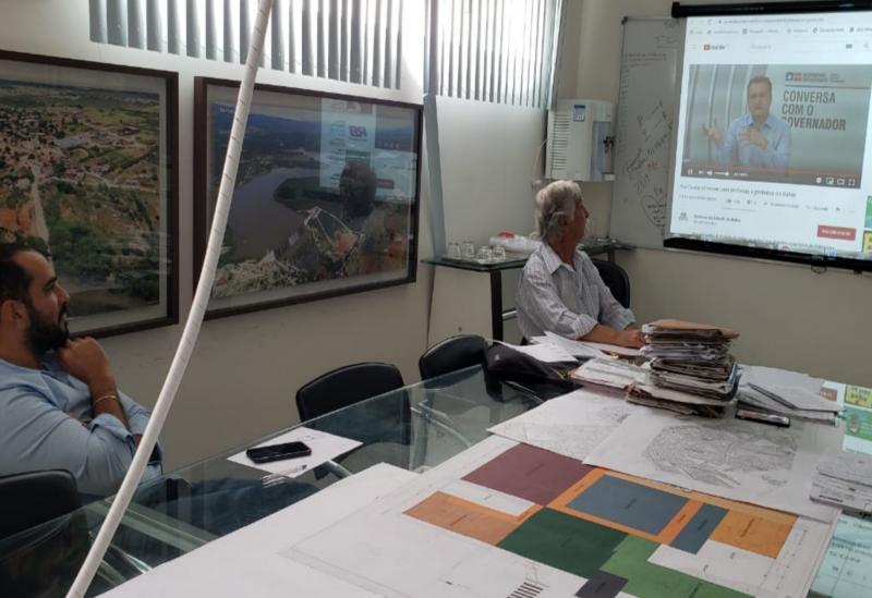 Prefeito de Brumado e secretário de saúde participam de videoconferência com o governador Rui Costa para atualizar ações de combate ao coronavírus
