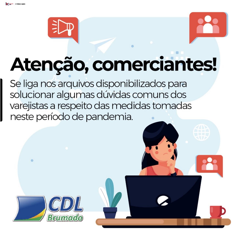 Brumado: CDL disponibiliza aos comerciantes plataforma para tirar dúvidas sobre oCovid-19