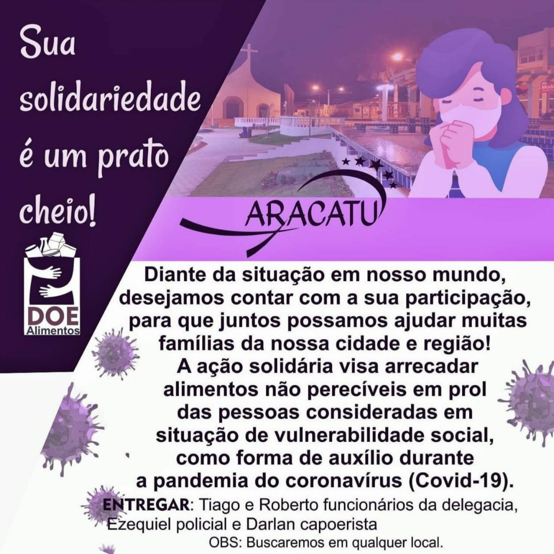 Aracatu: grupo se reúne para arrecadar doações para famílias carentes da cidade