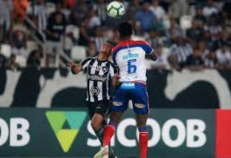 De virada, Bahia perde para o Botafogo no Rio