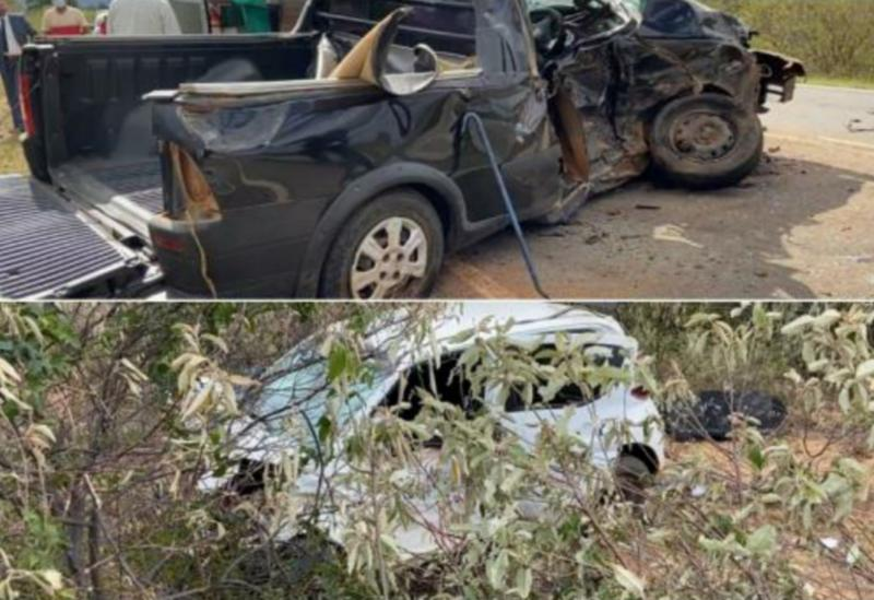 Livramento: Três pessoas morrem em acidente envolvendo dois carros na BA-152