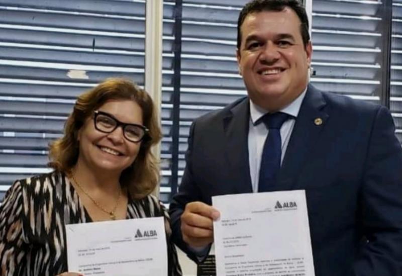 Deputado Marquinho Viana e vereadora Lia Teixeira buscam soluções para Brumado