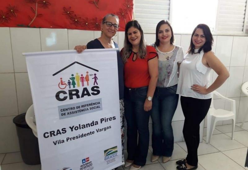 Equipe CEJUSC-Brumado apresenta seu serviço para o CRAS Yolanda Pires