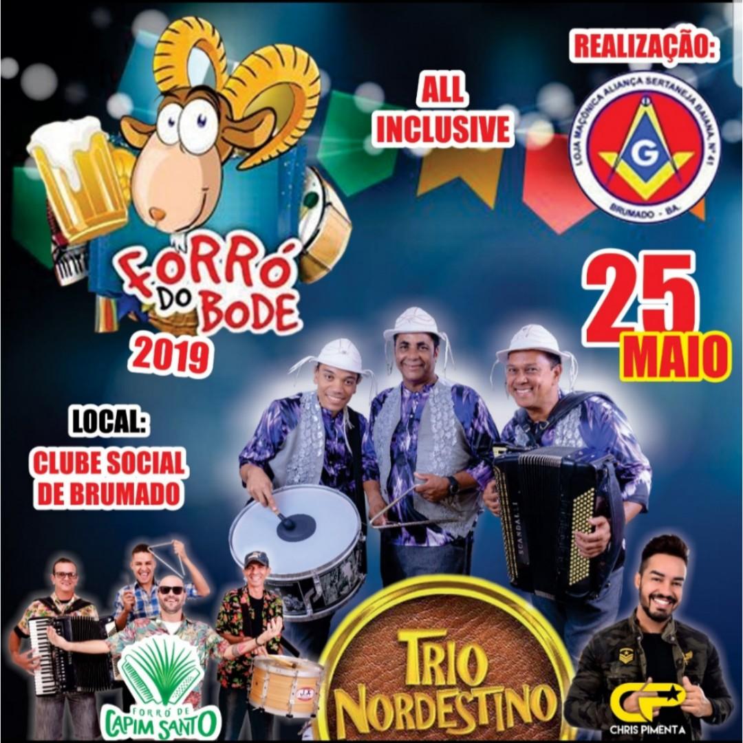 Brumado: Forró do Bode 2019 terá shows com Trio Nordestino, Chris Pimenta e Forró de Capim Santo