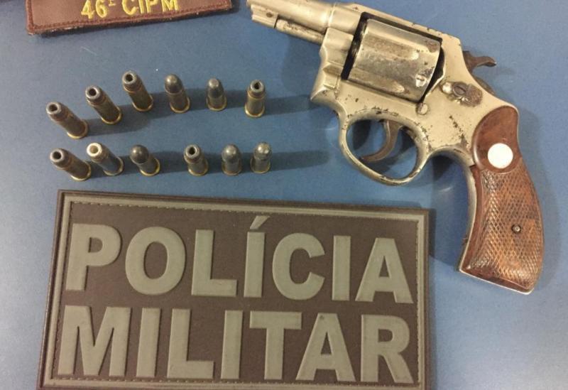 Trio é detido em Paramirim acusado de porte ilegal de arma de fogo