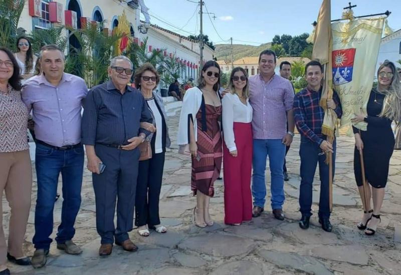 Deputado Marquinho Viana participa da festa de Corpus Christi em Rio de Contas