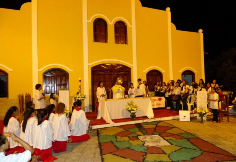 Solenidade de Corpus Christi na Paróquia Nossa Senhora da Conceição Aparecida e São Cristóvão