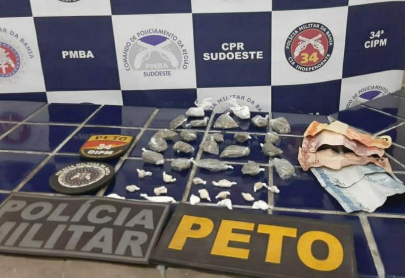 Brumado: polícia apreende drogas no bairro São Jorge