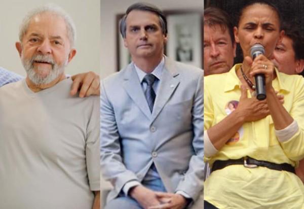 Pesquisa Ibope: Lula tem 33%, Bolsonaro, 15% eMarina, 7%