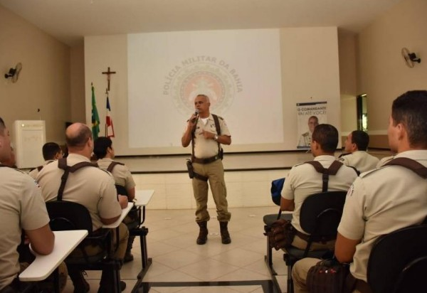 Comandante Cel. PM Anselmo Alves Brandão visita a 46° CIPM em Livramento de Nossa Senhora