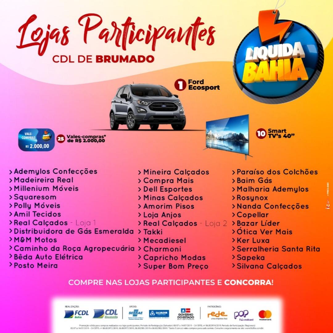 Brumado: Faça suas compras nas lojas participantes da Liquida Bahia