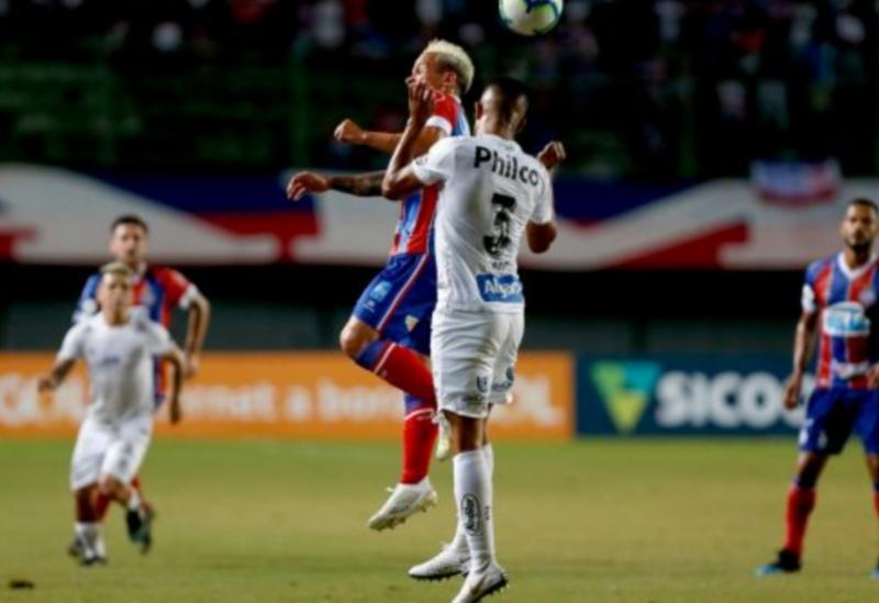 Bahia perde para o Santos em Pituaçu