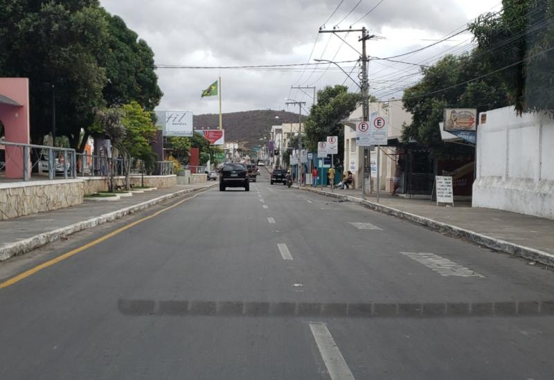 Primeiro dia da Zona Azul teve ruas vazias em Brumado