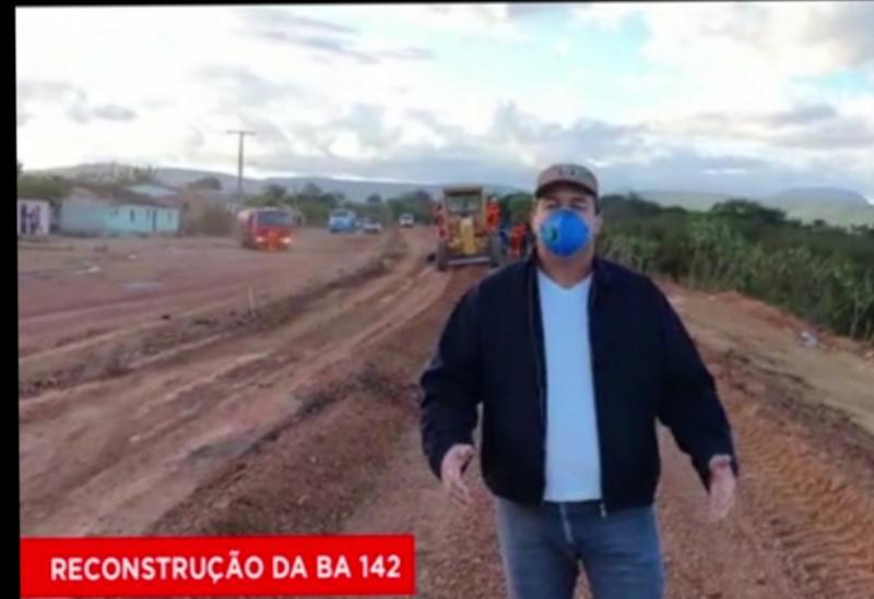 Deputado Marquinho Viana visita obras de recuperação da BA-142