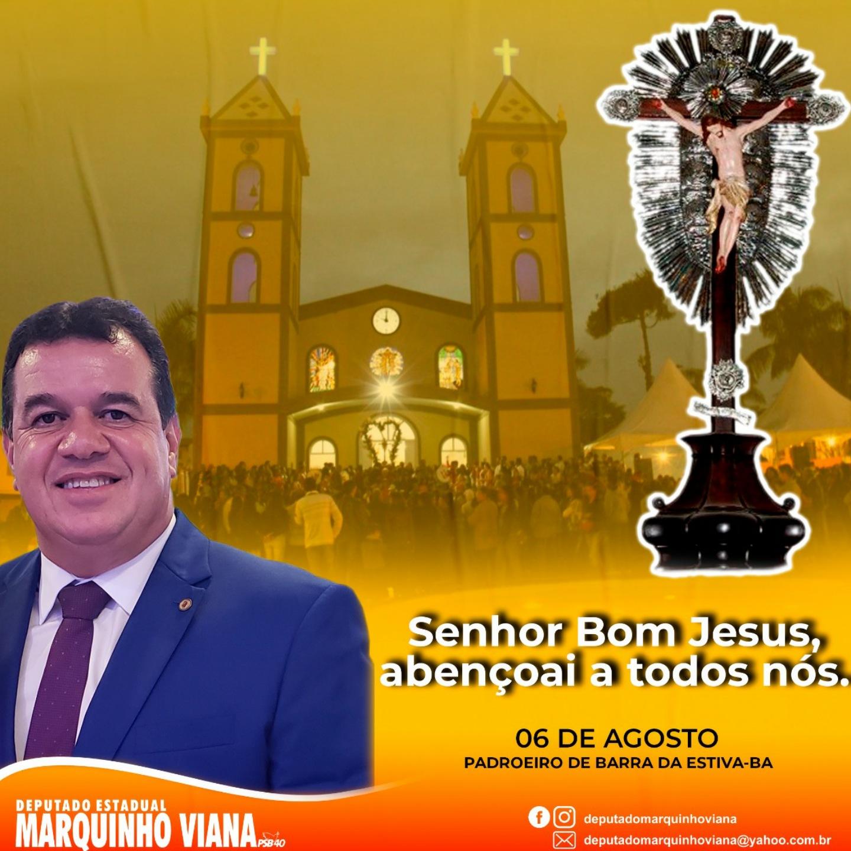 Deputado Marquinho Viana louva o Bom Jesus
