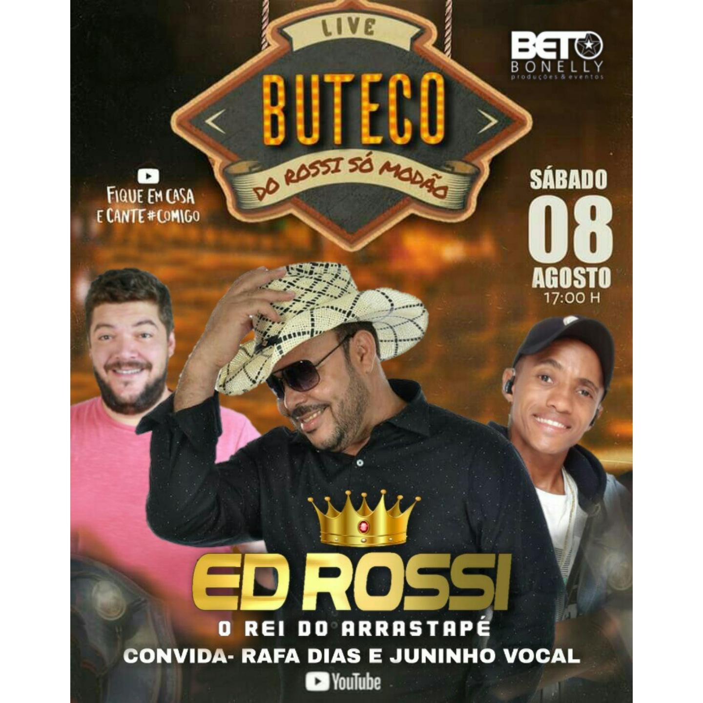 Neste sábado (08) tem Live Buteco do Rossi