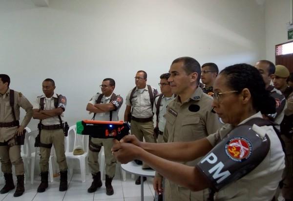 Brumado: Policiais da 34ª CIPM participaram de instrução sobre o uso de arma de baixa letalidade