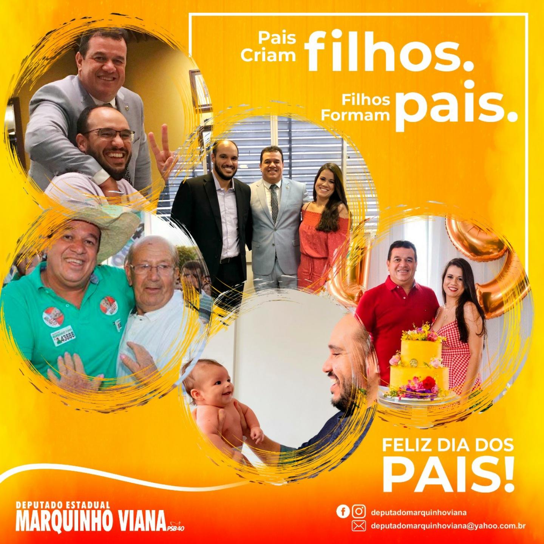 Deputado Marquinho Viana deseja um feliz Dia dos Pais