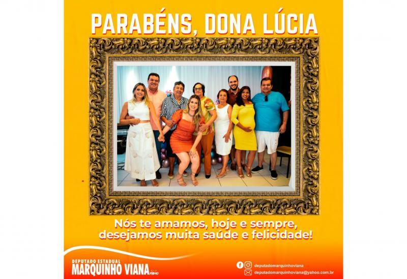 Deputado Marquinho Viana e família parabenizam Dona Lúcia pelo aniversário