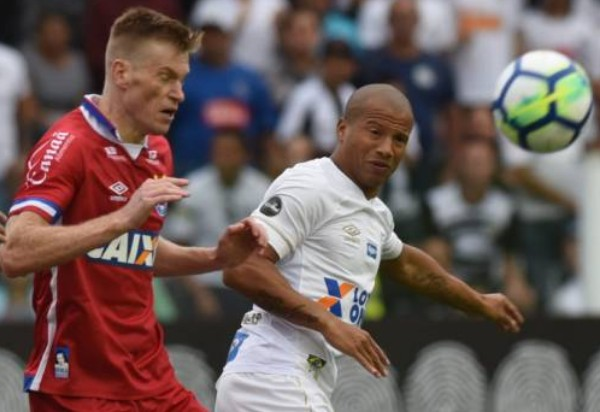 Bahia perde para Santos na Vila Belmiro