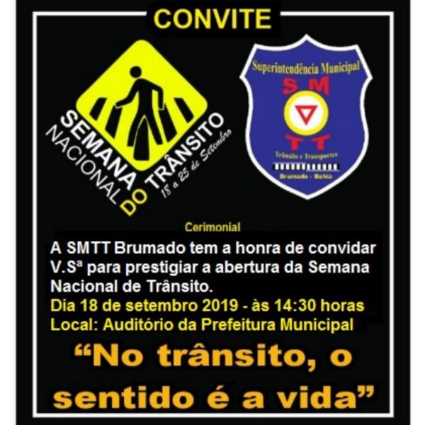 Prefeitura de Brumado realizará a Semana Nacional do Trânsito em parceria com a SMTT