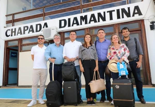 Em viagem à Chapada, Ivana e comitiva do governo buscam fomentar investimentos