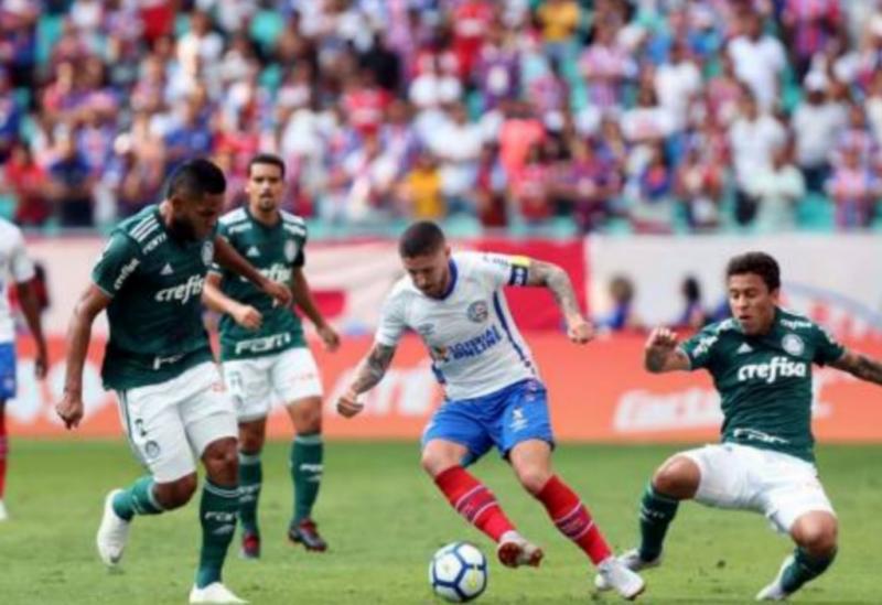 Bahia e Palmeiras ficam no 1 a 1 na Fonte