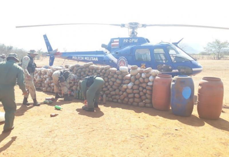 Livramento: Polícia encontra grande quantidade de maconha em comunidade rural durante busca a assaltantes de carro forte