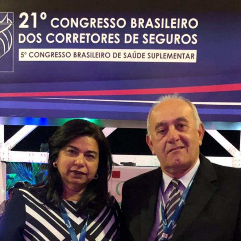 Empresário José Abreu e sua esposa Núbia Abreu participaram do 21° Congresso Brasileiro dos Corretores de Seguros
