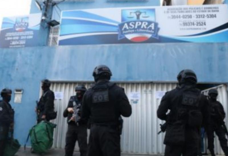 Sedes da Associação de Policiais da Bahia são interditadas por determinação judicial