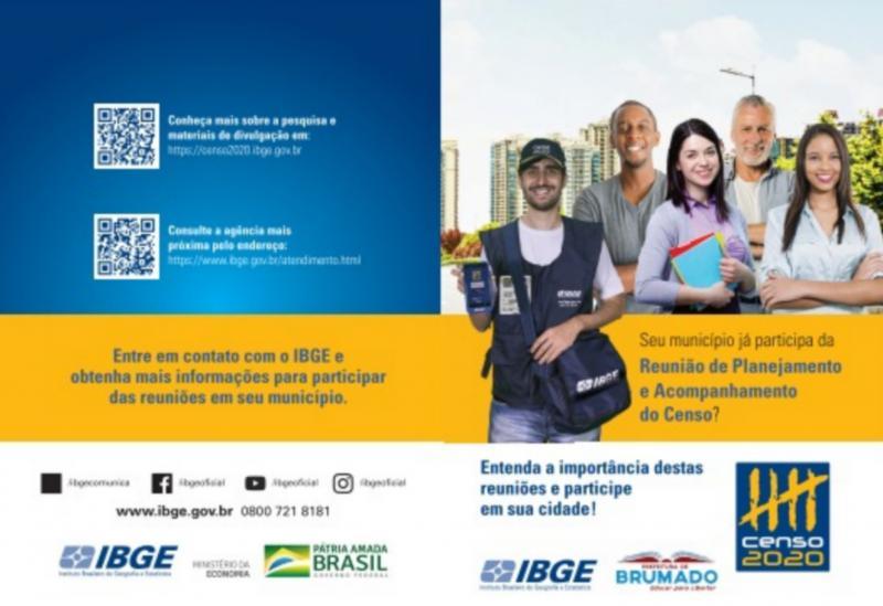 IBGE e Prefeitura de Brumado convidam a população para Reunião de Planejamento do Censo Demográfico 2020