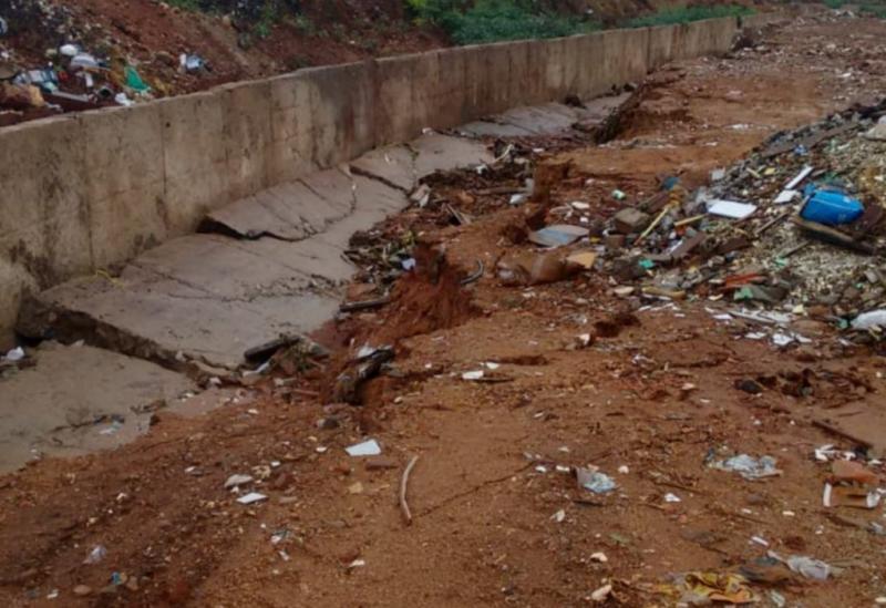 Brumado: muro de canal do Riacho do Bufão cai após chuvas na madrugada; prefeitura garante que empreiteiro terá que ressarcir o município