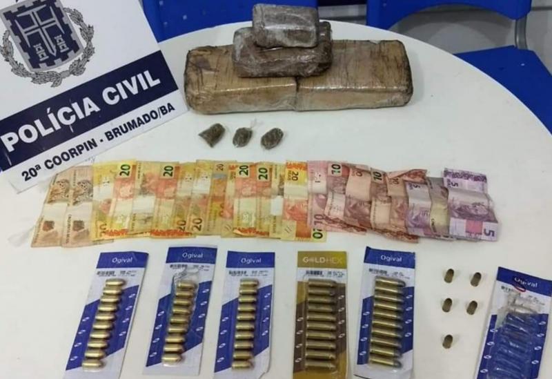 Brumado: Polícia Civil apreende drogas, munições e recupera bicicleta roubada