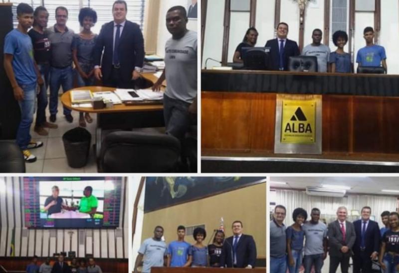 Deputado Marquinho Viana leva representantes quilombolas para uma visita à Assembleia Legislativa