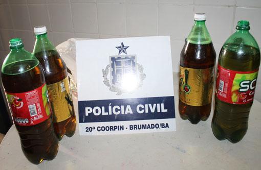 Brumado: Pinga em garrafas de refrigerante seria entregue aos presos
