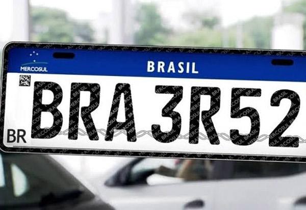 Portaria do Detran confirma placa Mercosul para dezembro na Bahia