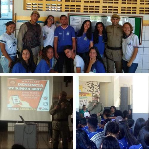 Polícia Militar promove palestras em escolas públicas de Barra da Estiva