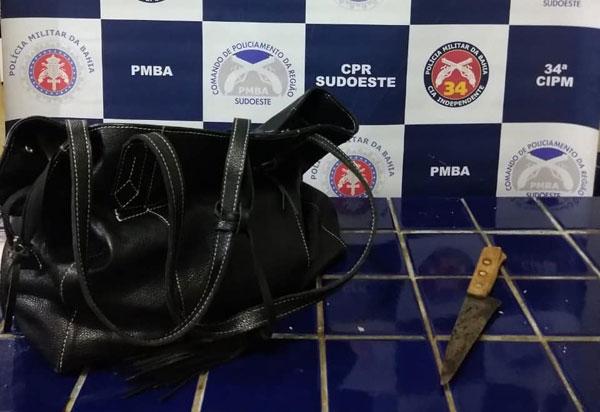 Brumado: Polícia Militar prende acusado de roubo a restaurante e recupera objeto