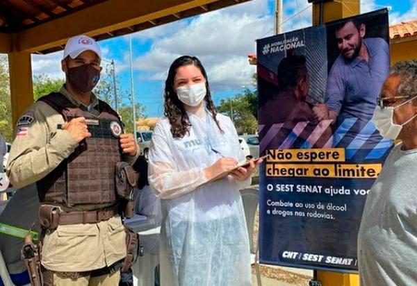 PRE Brumado participa de Campanha Nacional de Combate ao Uso de Álcool e Drogas nas Rodovias