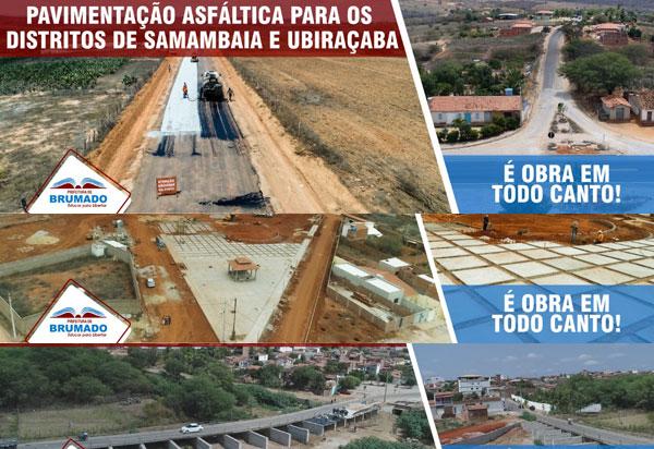 Prefeitura de Brumado lança campanha com o tema 'É Obra em Todo o Canto' para divulgar obras realizadas