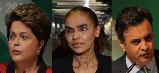 Datafolha: Dilma tem 36% das intenções de voto; Marina, 33% e Aécio, 15%