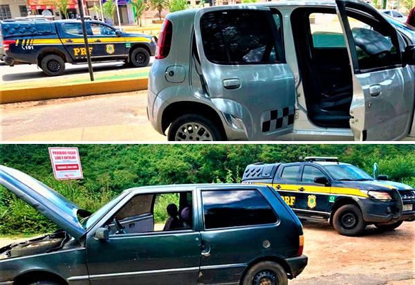 Em um intervalo de 5 horas, PRF na Bahia recupera dois veículos em ocorrências distintas na cidade de Caetité