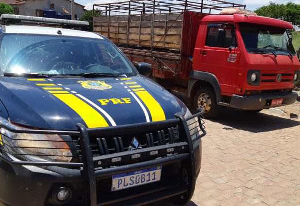 Caminhão roubado em São Paulo é recuperado pela PRF na Chapada Diamantina