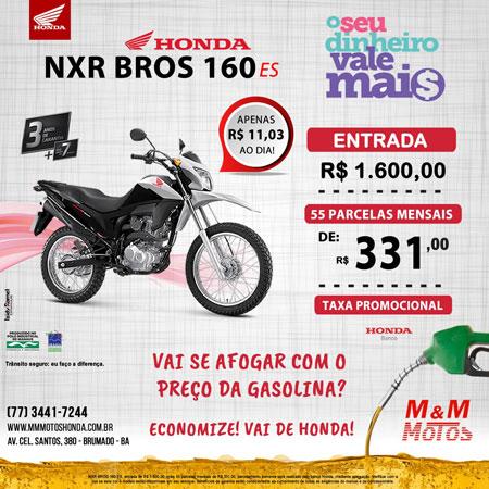 M & M Motos: preço imbatível para Honda NXR Bros 160 ES